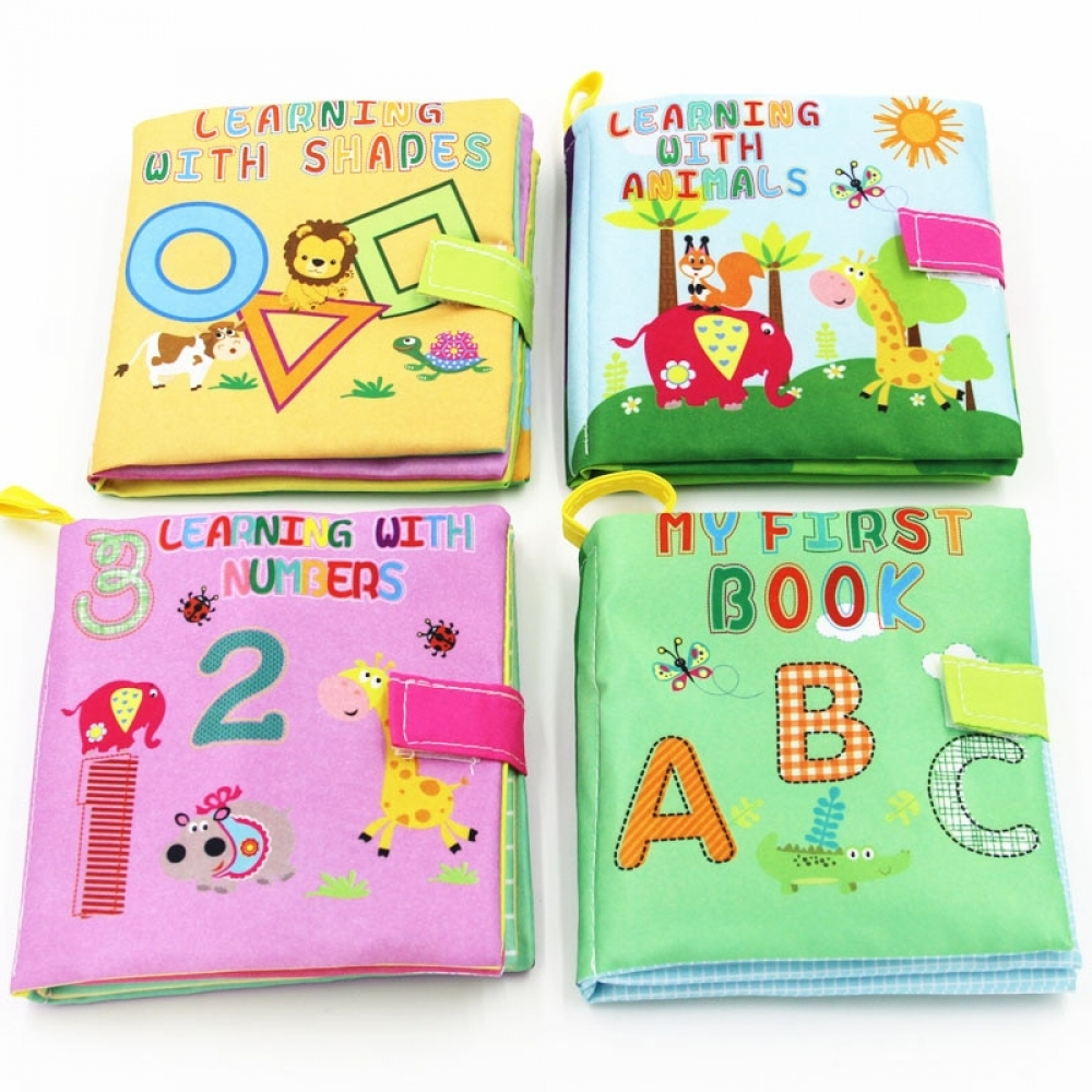 #baby 4 Style Soft Cloth Books