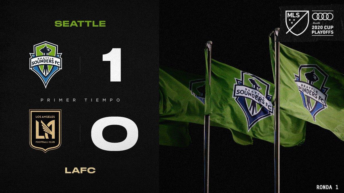 Con 1️⃣ gol del 🇺🇾 @NicolasLodeiro, los @soundersfc_es toman la delantera en la primera parte.  #SEAvLAFC | Audi #MLSCupPlayoffs