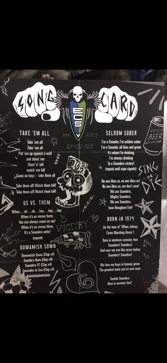 If you are watching #sounders in the playoffs! Here are the songs to cheer along! #SEAvLAFC #SoundersMatchday