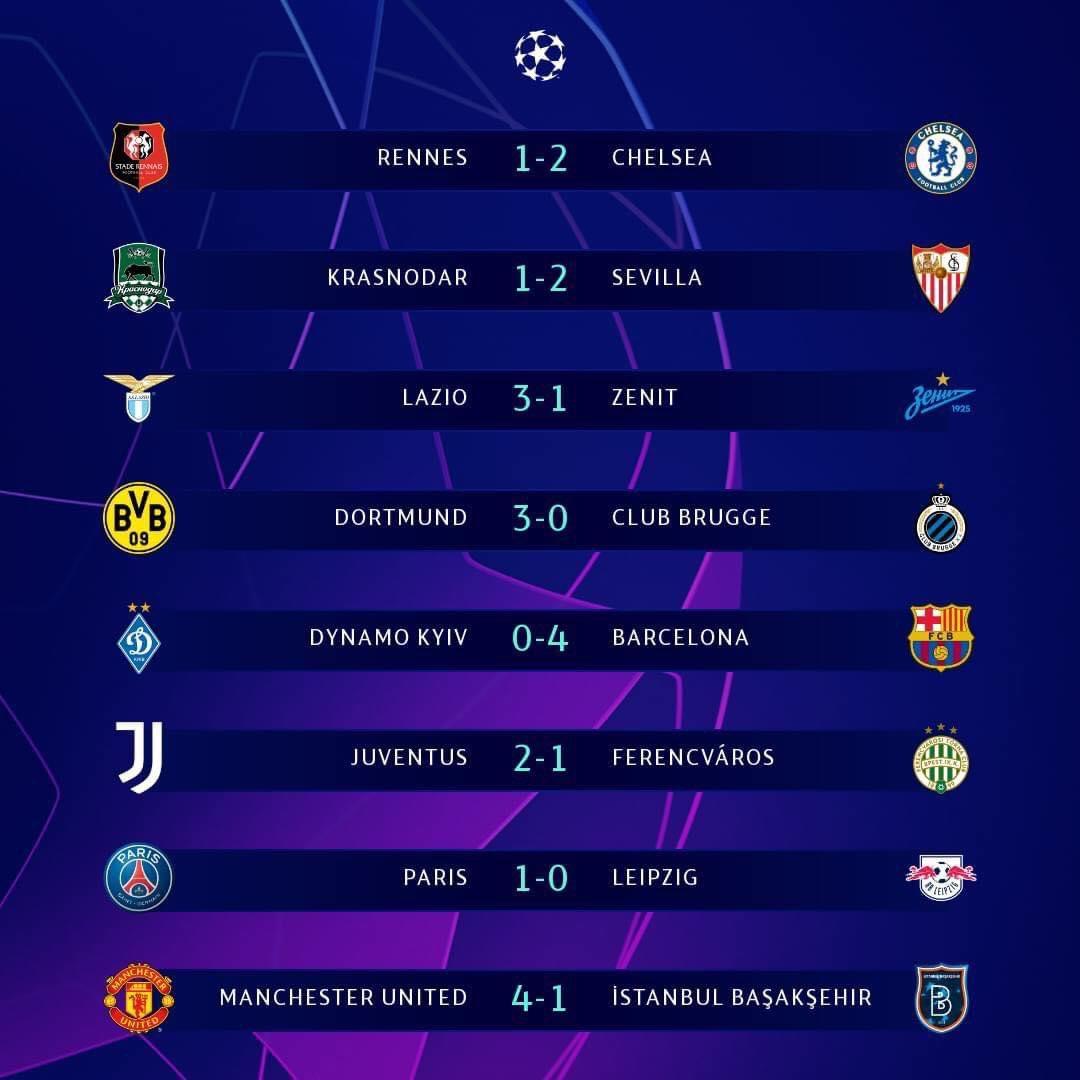 Kết quả loạt trận vòng bảng UEFA Champions League rạng sáng nay 🔥⚽️  #epl #pl #soccer #football  #happyluke #hlvietmam #happylukevietnam https://t.co/CGYV0YHCj5