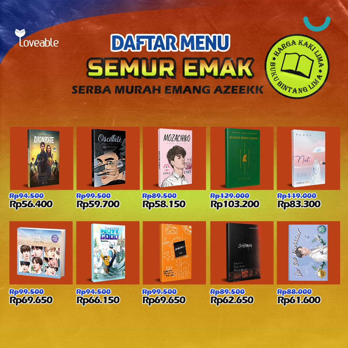 Sale buku terbitan Liveable up diskon sampai 60% pemesanan bisa klik https://t.co/XCTeR7gbrr ☺ https://t.co/Iq8rk7ZEBf