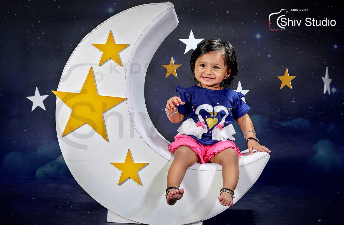 The Stars and the Moon are the Land-Marks of my Universe. Visit to our Amazing collection:   Call to Shiv Studio on +91 98983 73068 Or +91 98256 27911 #kids_photographer, #baby_photographer, #Kid_boy, #Kid_girl, #Kids, #baby #photo #baby_boy #boy #girl