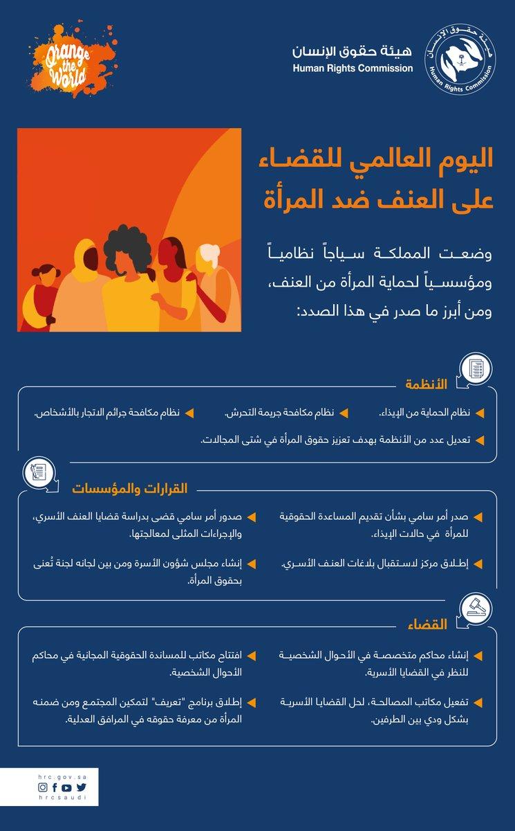وضعت #السعودية إطاراً نظامياً ومؤسسياً لحماية #المرأة من العنف، وعدلت عدد من الأنظمة بهدف تعزيز #حقوق_المرأة في شتى المجالات، كما أطلقت مركزاً متخصصاًَ لبلاغات العنف الأسري @HRSD_1919.  ساهم بالإبلاغ عن حالات العنف الأسري عبر الرقم: 1919  #اليوم_العالمي_للقضاء_على_العنف_ضد_المرأة