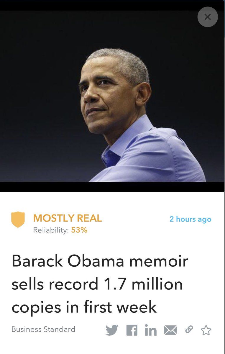 Barack Obama's A Promised Land sold more than 1.7 million copies in North America in its first week, roughly equal to the combined first week sales of memoirs by his two immediate predecessors.  Read more:   #BarackObama #APromisedLand #Sales