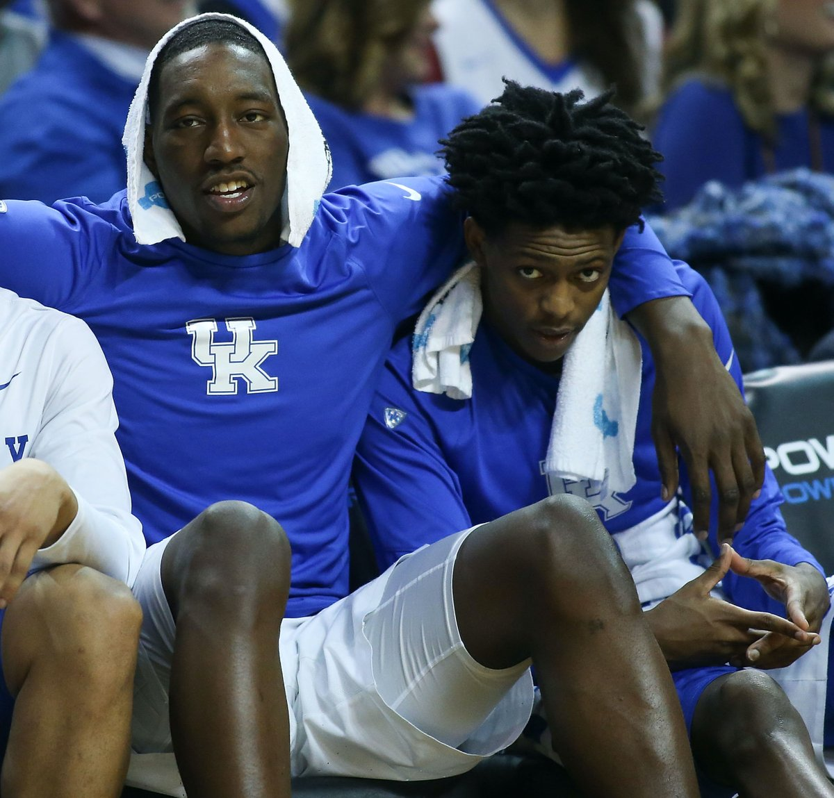 De'Aaron Fox and Bam Adebayo's journey has been special:  -Teammates at Kentucky in 2016-17 -Lost to UNC in Elite Eight in final seconds -Fox picked fifth by Kings, Adebayo picked 14th by Heat in '17 NBA draft -Each signed a $163M max extension   Future is bright 🌟 https://t.co/WoMZ7FWnjS
