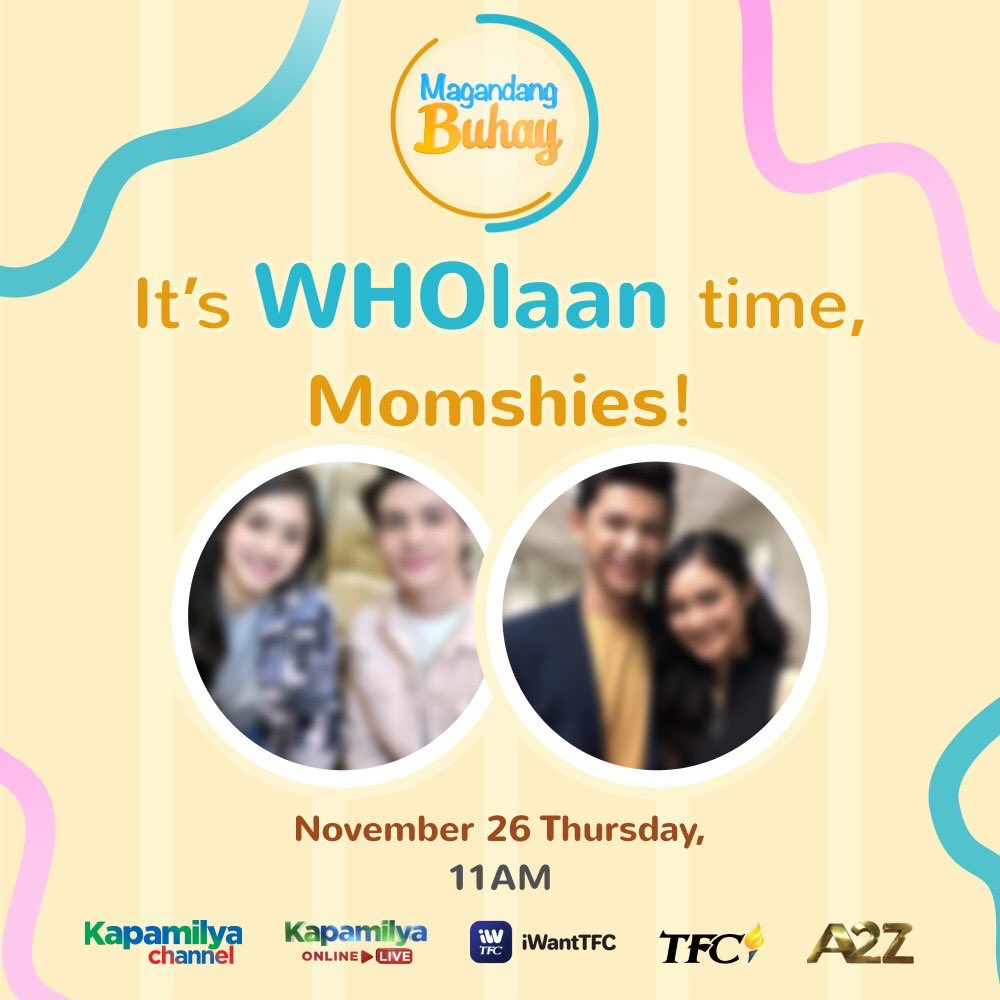 Get ready for some kilig feels, Momshies! ❤️  Can you guess kung sino ang mga makakasama natin bukas? Tumutok lang sa #MagandangBuhay — weekdays at 11AM!
