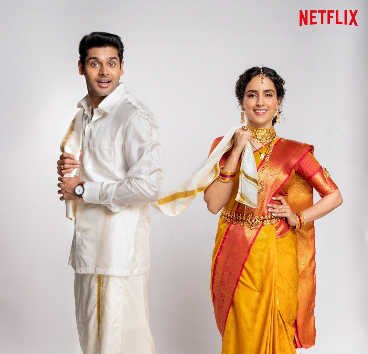What's in a name? Marriage, love, laughter, tears.  Meenakshi Sundareshwar is ready for it all. Are you? Coming soon to Netflix.  @NetflixIndia @apoorvamehta18 @Abhimannyu_D @sanyamalhotra07 @SonniVivek @NotSoSnob @Dharmatic_