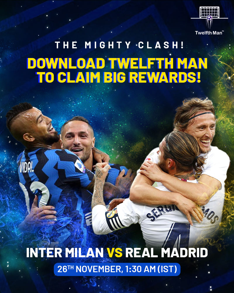 A late winner from Rodrygo guided the Spaniards over the line against Inter in the first leg of this contest. Who will claim the paramount 3️⃣ points, come the return leg at the San Siro? 🤔 Make your team on Twelfth Man, NOW!  #InterMilan #RealMadrid #ChampionsLeague #UCL https://t.co/t2lW7oVO7g