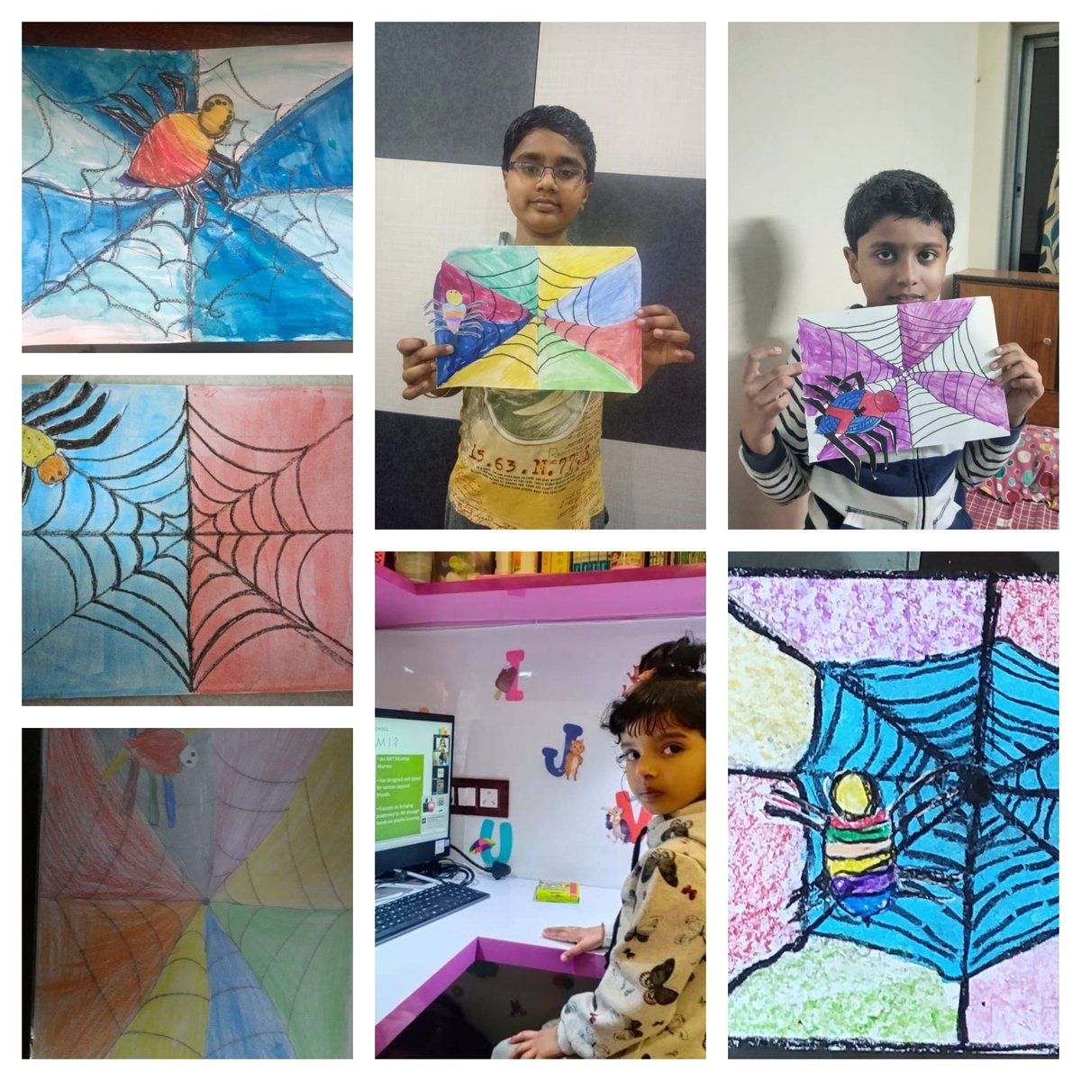 Wonderful submissions from yesterday's superhour class- Life Cycle Of A Spider by Lavina Chugh.  To join our free evening live interactive classes, make sure to join our whatsApp group -> https://t.co/mZOTpLZXzG  #interactivesession #podiumschool #learning #freeclasses https://t.co/9SSMaNlbJG