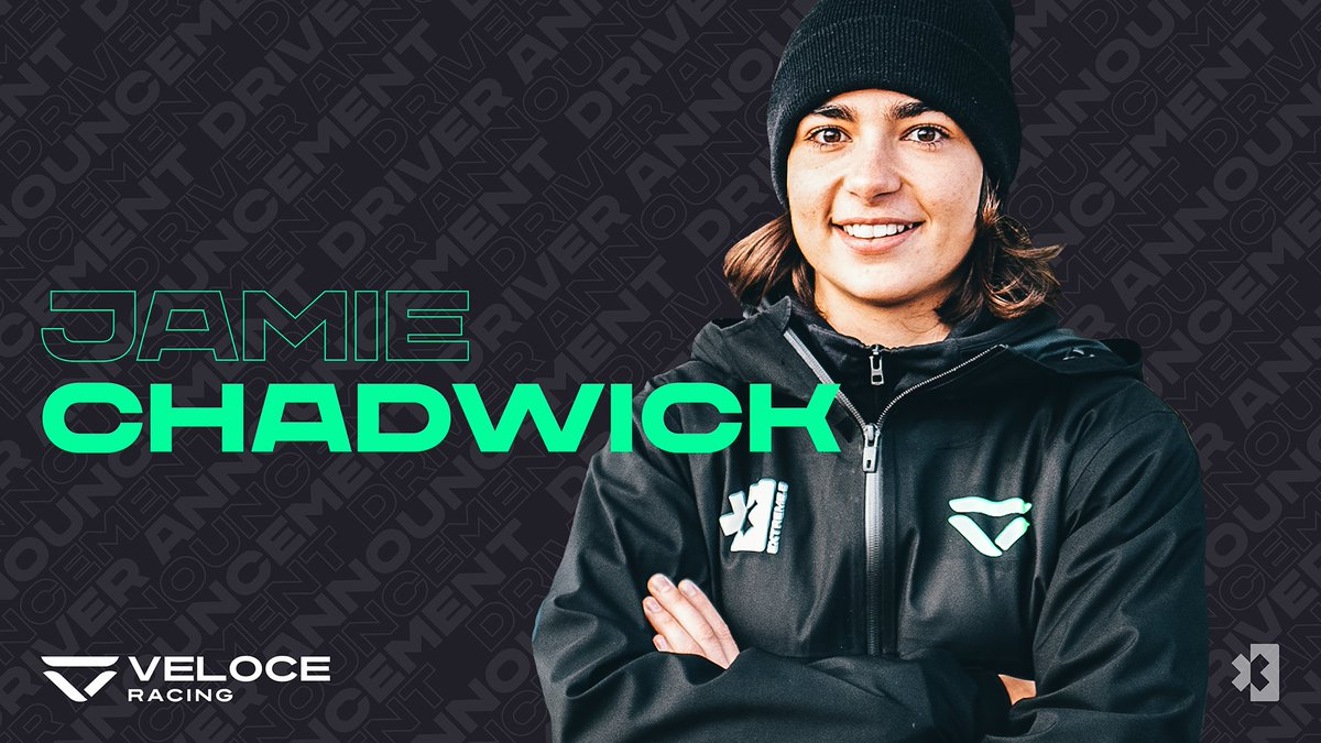 DRIVER ANNOUNCEMENT: Williams F1 development driver and W Series Champion @JamieChadwick55 joins @VeloceRacingXE for Season 1!  #ExtremeE #VivaVeloce