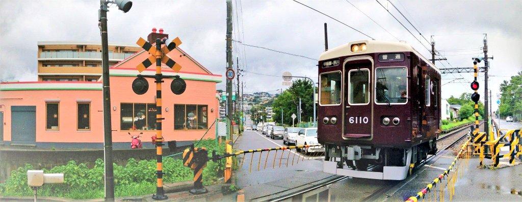 パノラマ機能で撮影した阪急甲陽線 #全日本失敗写真協会