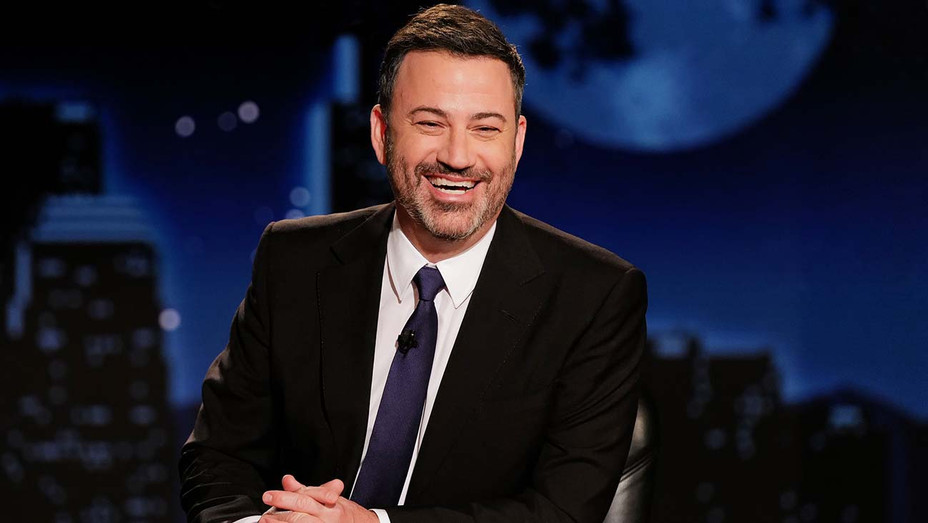 """Jimmy Kimmel took shots at Donald Trump and Randy Quaid after the two made headlines with tweets about the election. """"Look out, kids. Santa's been eating bath salts this year,"""" the late-night host joked about the actor's shaggy appearance. Details:"""