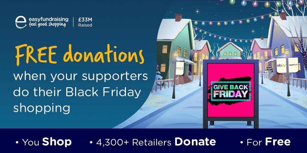 The #BlackFriday sales have started - remind your supporters to use @easyuk when they shop online to raise free donations for your club/group at the same time! Join here 👉 https://t.co/C5r1o7A3VV  #ReturnToPlayLLR