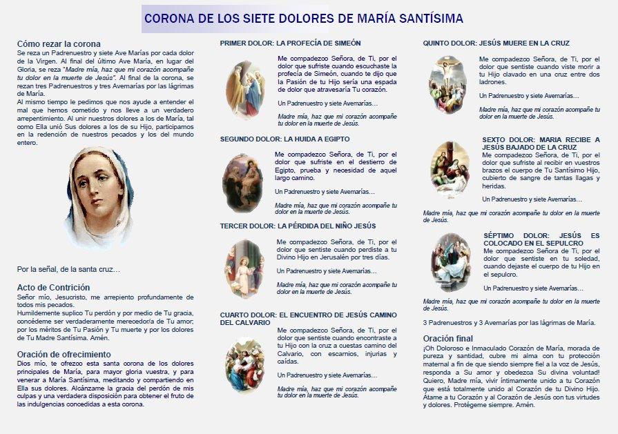 @Pontifex_es Acompañemos a nuestra Mamita Hermosa del Cielo, todos los días, en sus siete Dolores, rezando su Corona