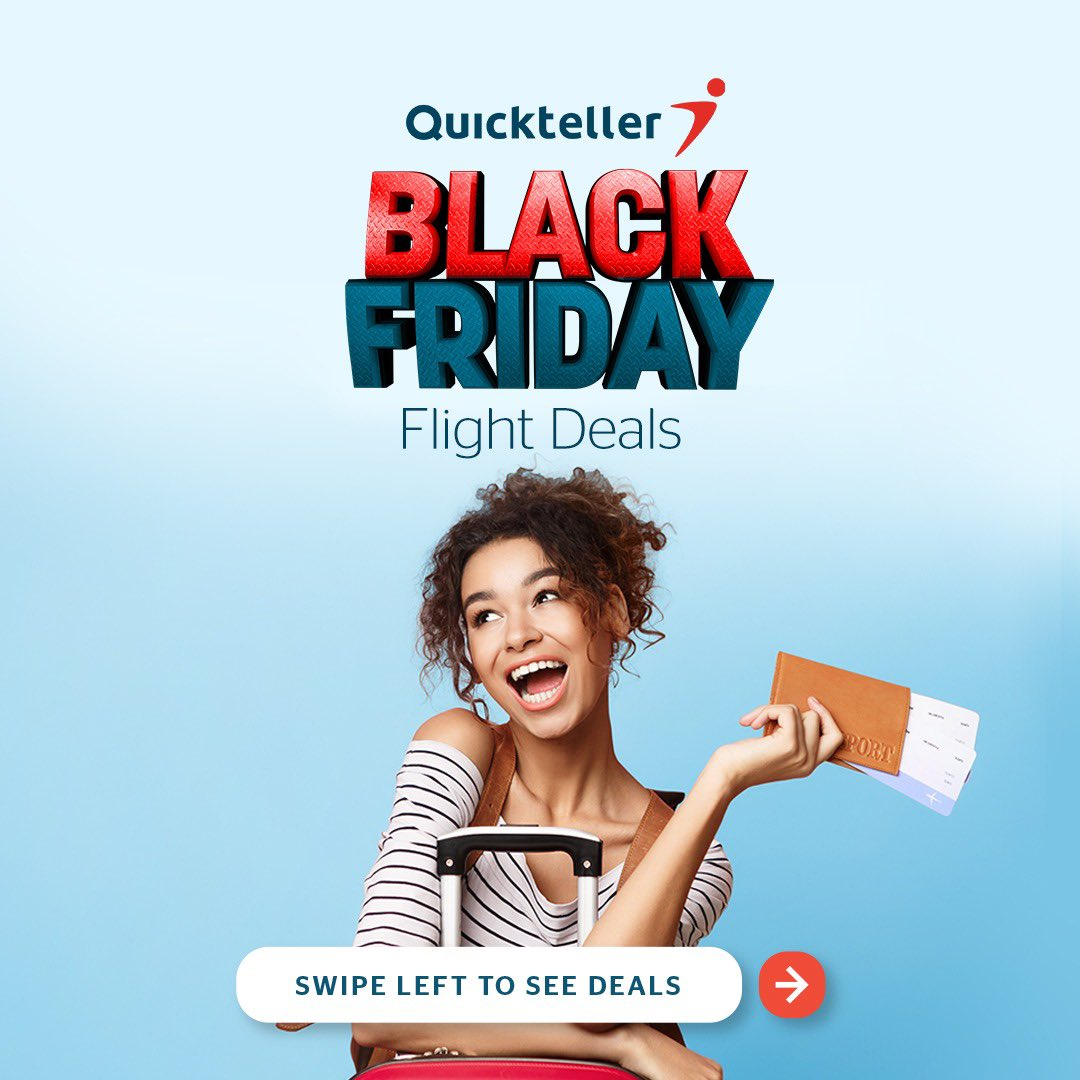 We told you we had the best deals!😉  #SwipeLeft, Book your flights on   and enjoy amazing Black Friday flight deals! Don't forget to tell a friend! #EverythingIsPossible ✈️