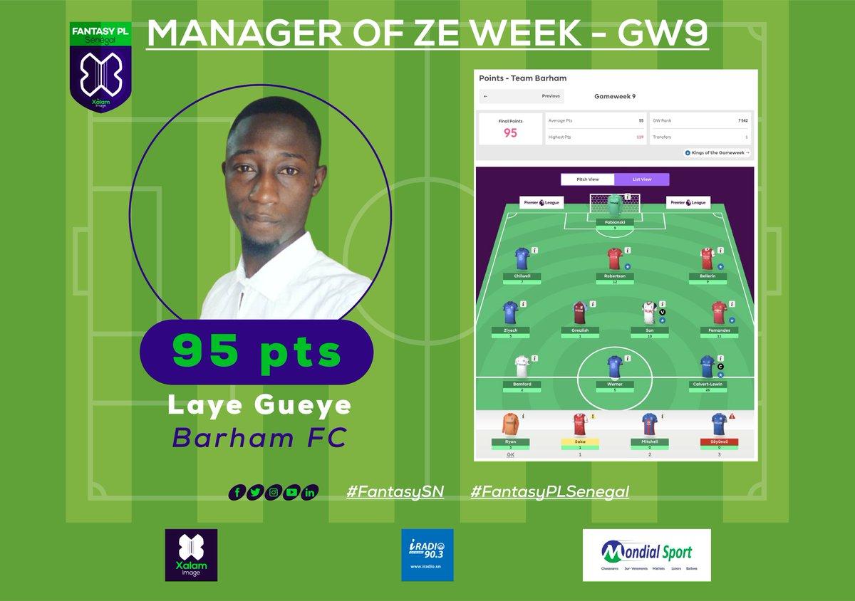 Félicitation à @laye_sbn_gueye, notre Manager Of Ze Week avec sa team