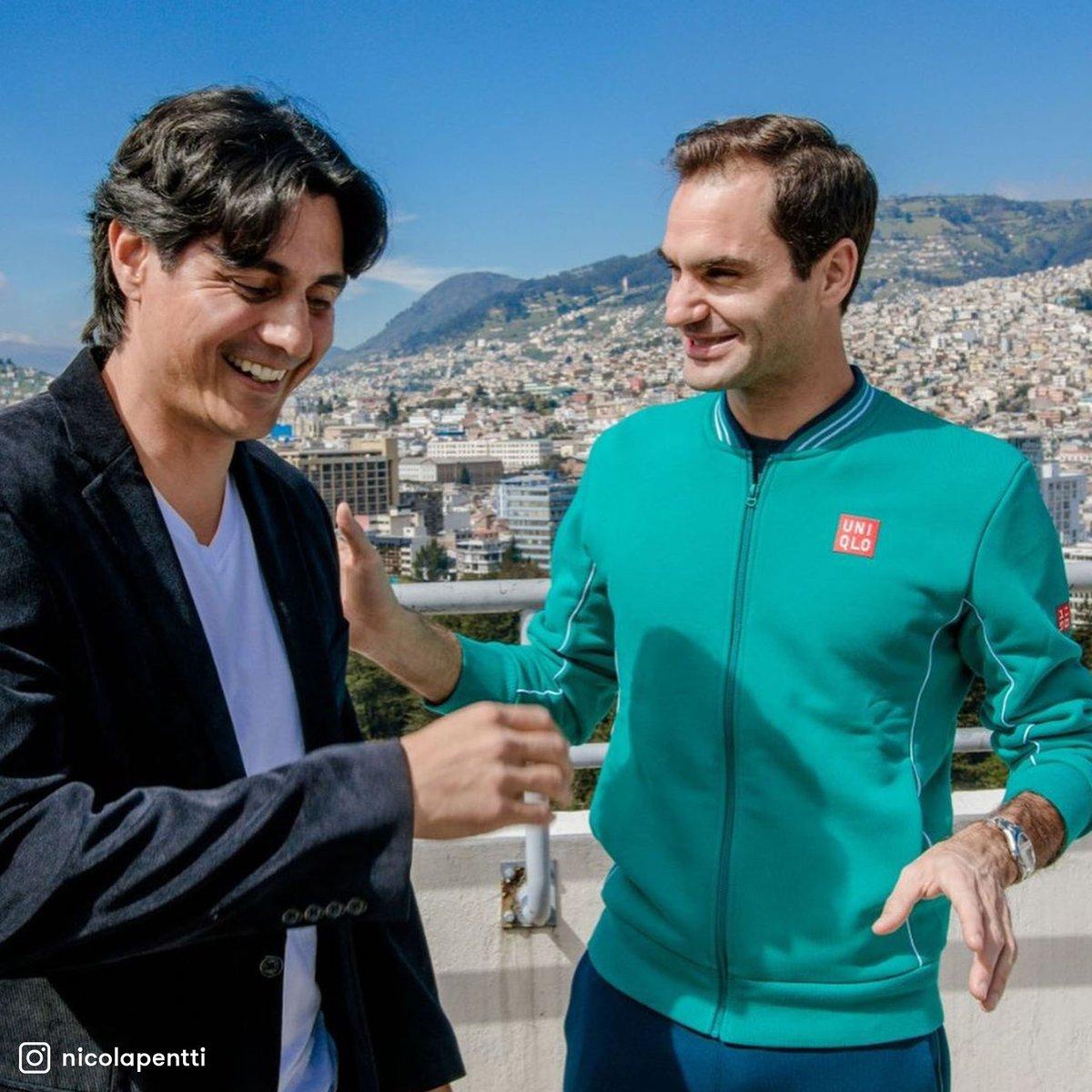 A un año de #FedererEnQuito. 🇨🇭❤️🇪🇨  #TENISxESPN @rogerfederer @nicolapentti https://t.co/vlBp5oKkHU