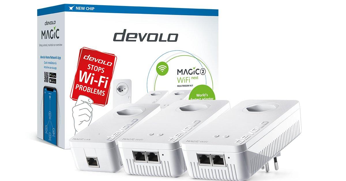Im Test: devolo Magic 2 WiFi next Wie sich die Powerline-Lösung «Magic 2 WiFi next» von devolo im Test schlägt und ob sich eine Anschaffung lohnt, klärt dieser Blogbeitrag: https://t.co/bRKLfPz54o https://t.co/nXTRrSD6mn