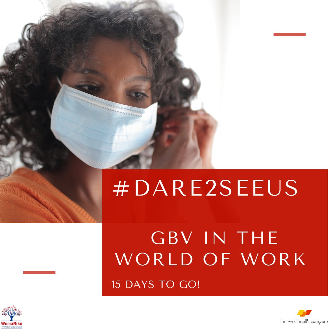 15 Days to Go till we launch the first episode of the #Dare2SeeUs campaign. On the 10th of December we will be unpacking GBV in the world of work. #Dare2SeeUs #ThePowerOfStories #Stronger2gether #ReImagine #16DaysofActivism2020 #16Days