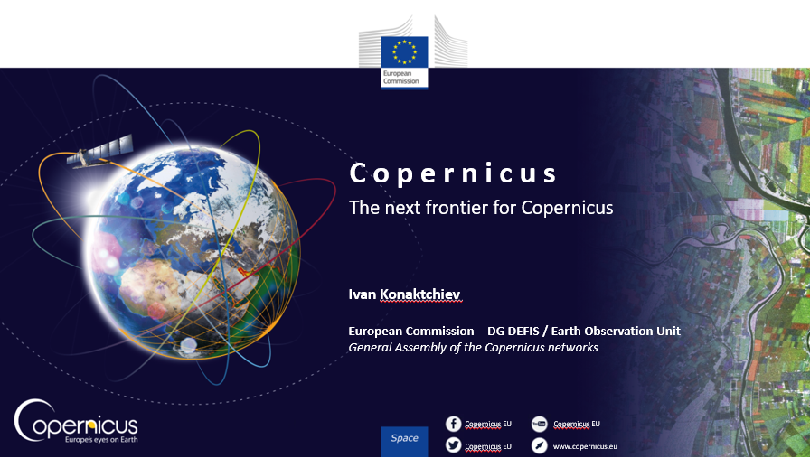 Day 2 of the 2020 GA of the #Copernicus networks has started with insights from Ivan Konaktchiev of @defis_eu into the future of the Copernicus programme.  Today, members will also hear from the @WomenCopernicus initiative & take part in dedicated trainings & networking tables!