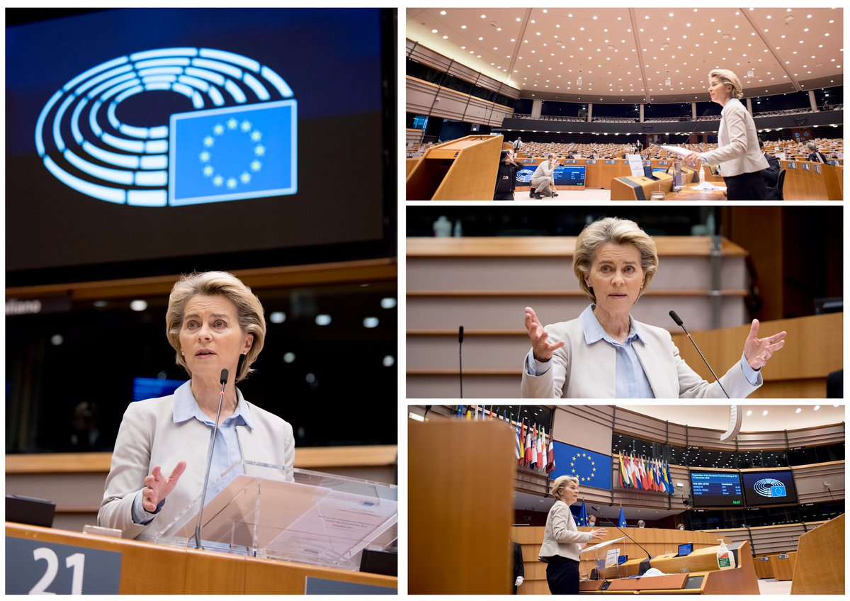From Brexit to the fight against #COVID19, From our EU budget to the fight against terrorists, It is when we manage to join forces, that we, Europeans, can achieve most. My address at the @Europarl_EN europa.eu/!Xg68wt