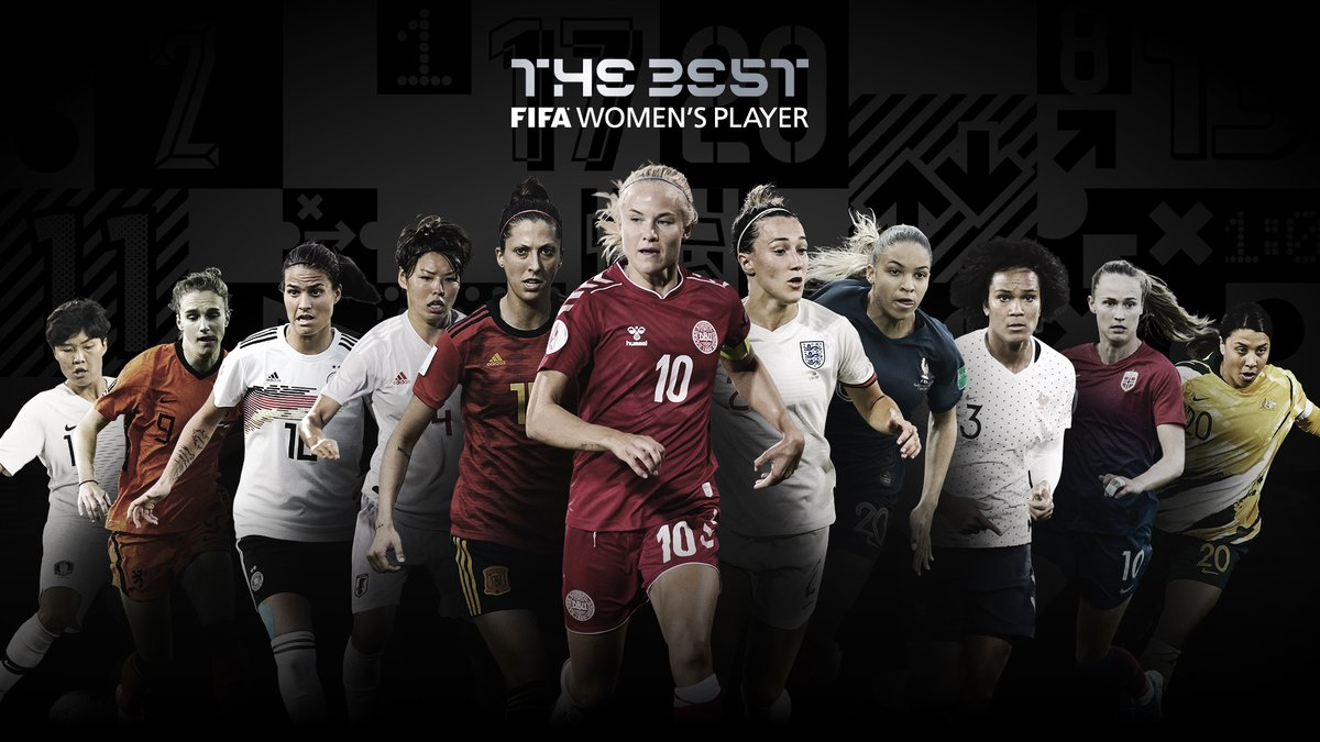 #TheBest FIFA Women's Player 2020 nominees are:  @LucyBronze @delphsix @CarolineGrahamH @PernilleMHarder @Jennihermoso @SamKerr1 @jsyo341 Saki Kumagai Dszenifer Marozsan @VivianneMiedema @WRenard   🗳️ VOTE NOW 👉