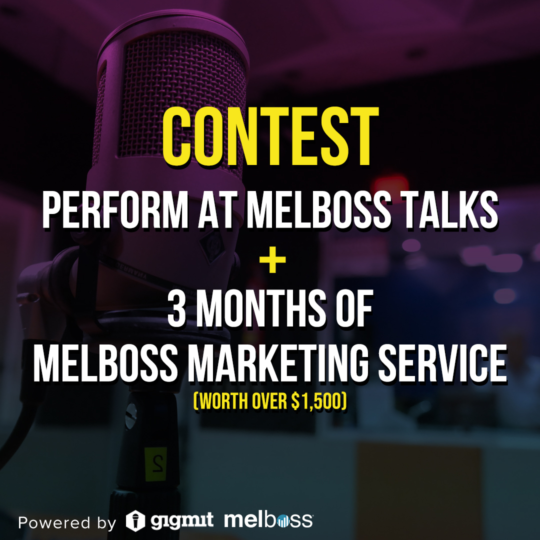 🔥 OPPORTUNITY REMINDER 🔥  Want to perform at our next Melboss Talks and also WIN 3 months of Melboss Marketing Service?  Just visit:   https://t.co/fGjN0sz7QR   ▶️ Visit https://t.co/OccNghVWDB for all the information! https://t.co/B7IPZeQ2cF