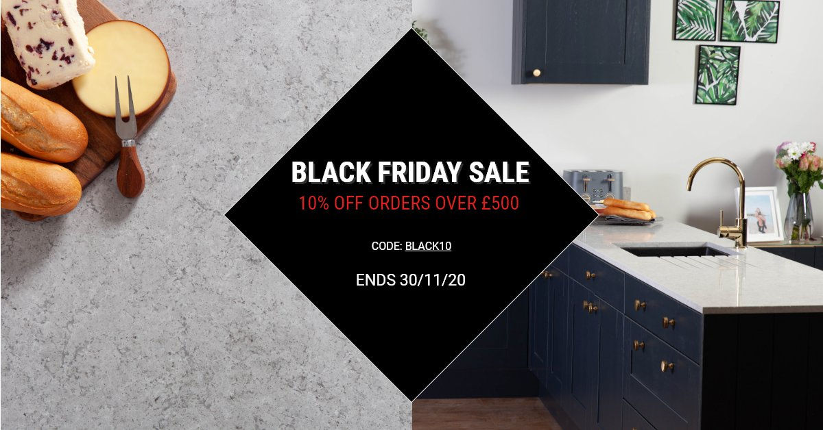 Our Black Friday sale is now on! With 10% off your entire order when you spend £500 or more, there's no better time to buy a new kitchen worktop. Find the perfect worktop for your home today. Shop now: https://t.co/skbux20tHD https://t.co/xMNewDRRqx