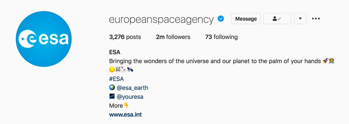 👏👏👏 Hey, congratulations to our ESA @instagram crew, who just crossed 2 MILLION followers over at  #woohoo
