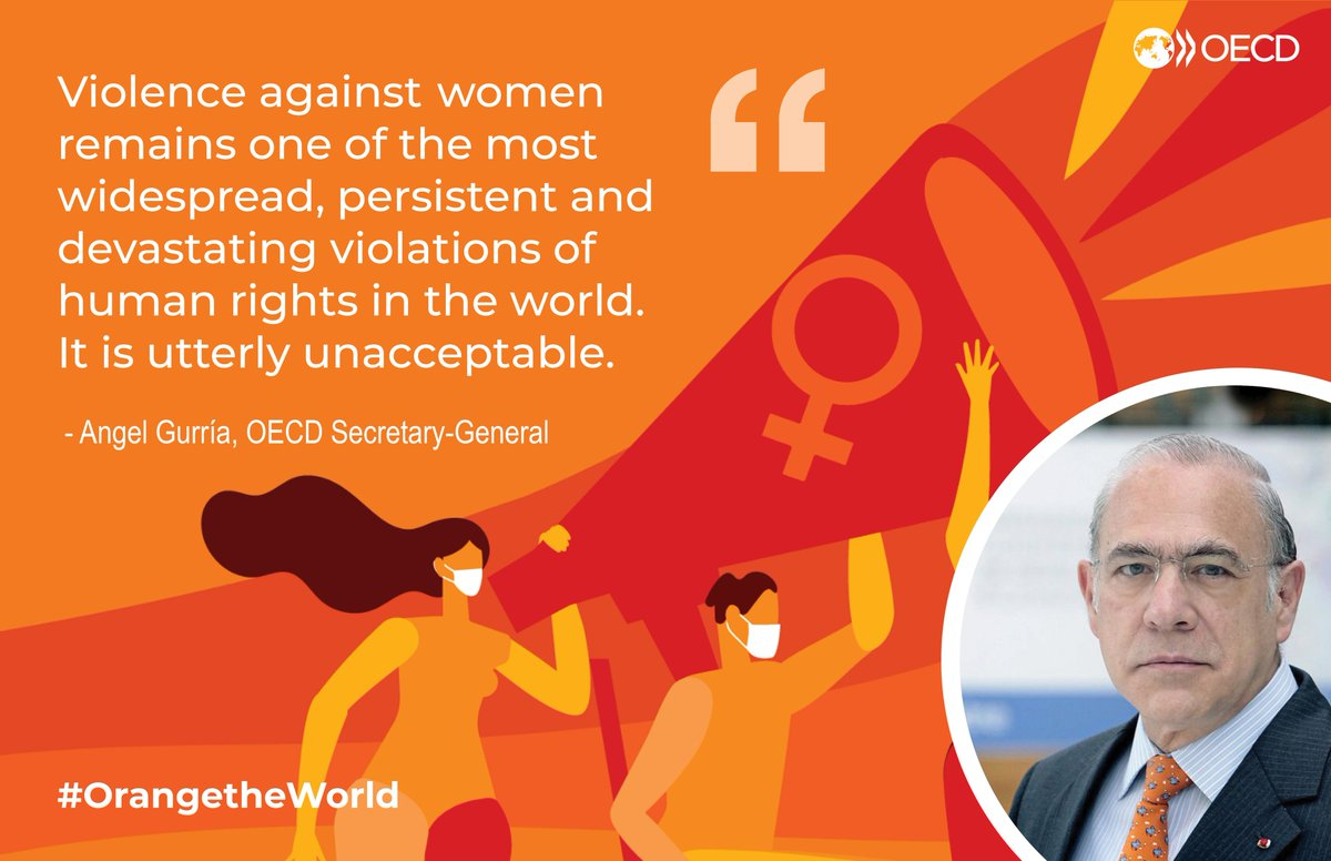 Amidst lockdown measures, the COVID-19 crisis has also highlighted another pandemic: #ViolenceAgainstWomen. The OECD stands ready to address this global challenge. Learn more about our work ➡️ oe.cd/vaw #OrangeTheWorld