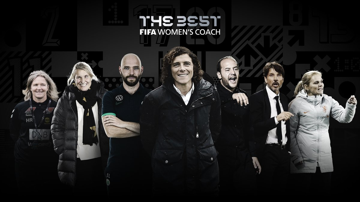 #TheBest FIFA Women's Coach 2020 nominees are:  @Llcortes14  @ritaguari  @emmahayes1  Stephan Lerch @wiegman_s  Hege Riise Jean-Luv Vasseur  🗳️ VOTE NOW 👉