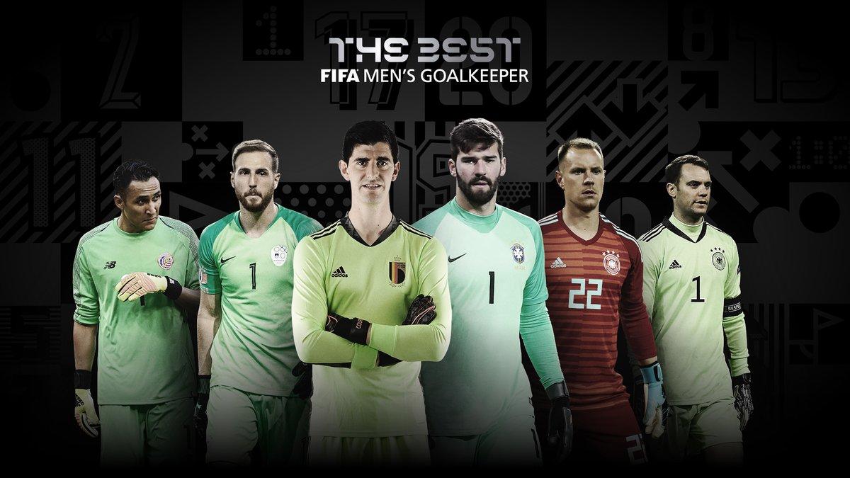 🏆 Nominees: #TheBest FIFA Men's Goalkeeper  🇧🇷 Alisson Becker 🇧🇪 Thibaut Courtois 🇨🇷 Keylor Navas  🇩🇪 Manuel Neuer  🇸🇮 Jan Oblak  🇩🇪 Marc-André ter Stegen  🗳️ VOTE NOW 👉