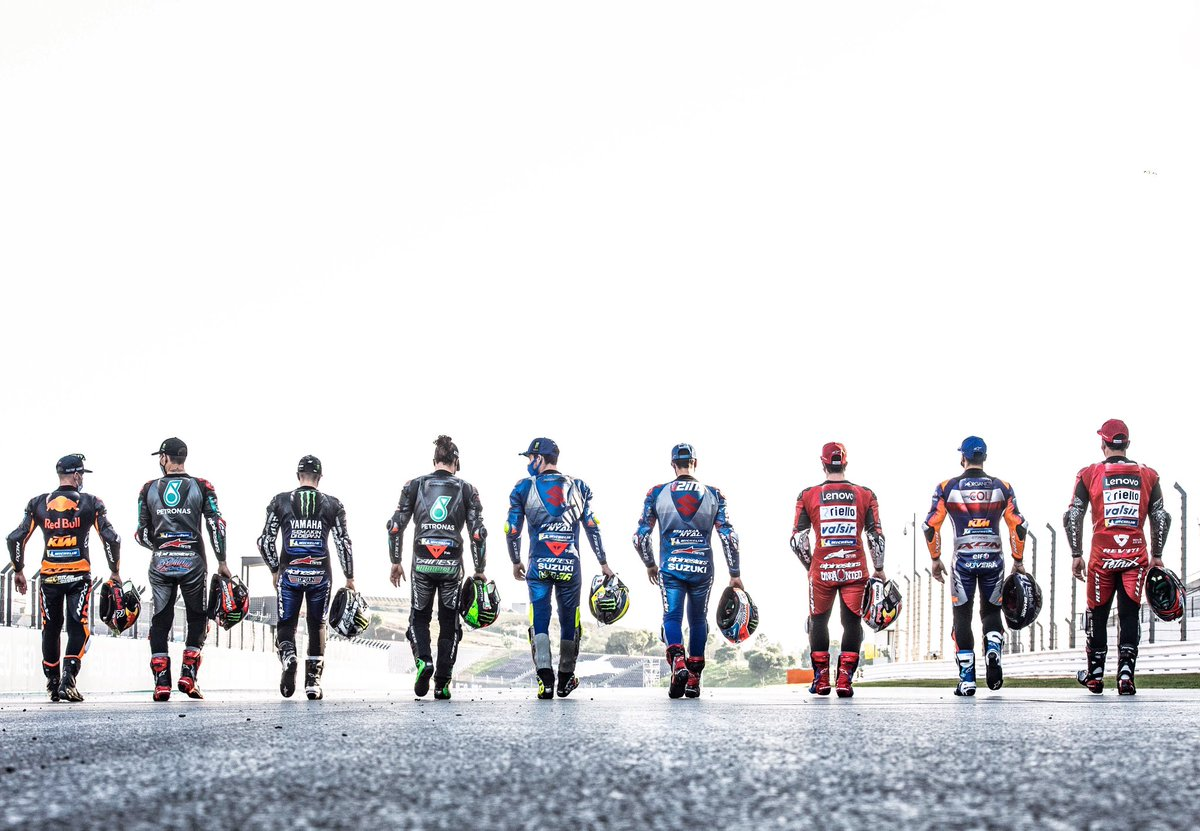 We shot the nine MotoGP race winners on the Thursday at Portimao. Luckily we didn't have a 10th different winner on the Sunday!😜#motogp #portuguesegp #bradbinder #fabioquartararo #maverickvinales #francomorbidelli #joanmir #alexrins #andreadovizioso #migueloliveira #petrucci #d6