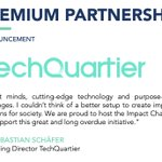 Image for the Tweet beginning: We're happy to introduce @TechQuartier