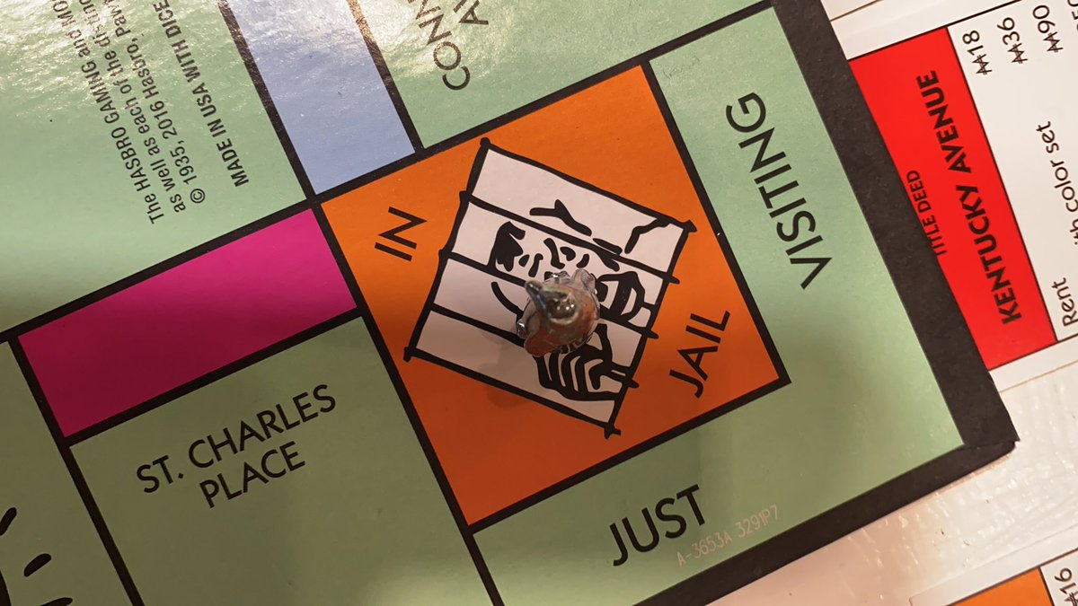 I'm enjoying staying in jail woefully loosing 🙈 #Monopoly #FamilyTime #EnjoyMyself https://t.co/EW1XiL12Hl