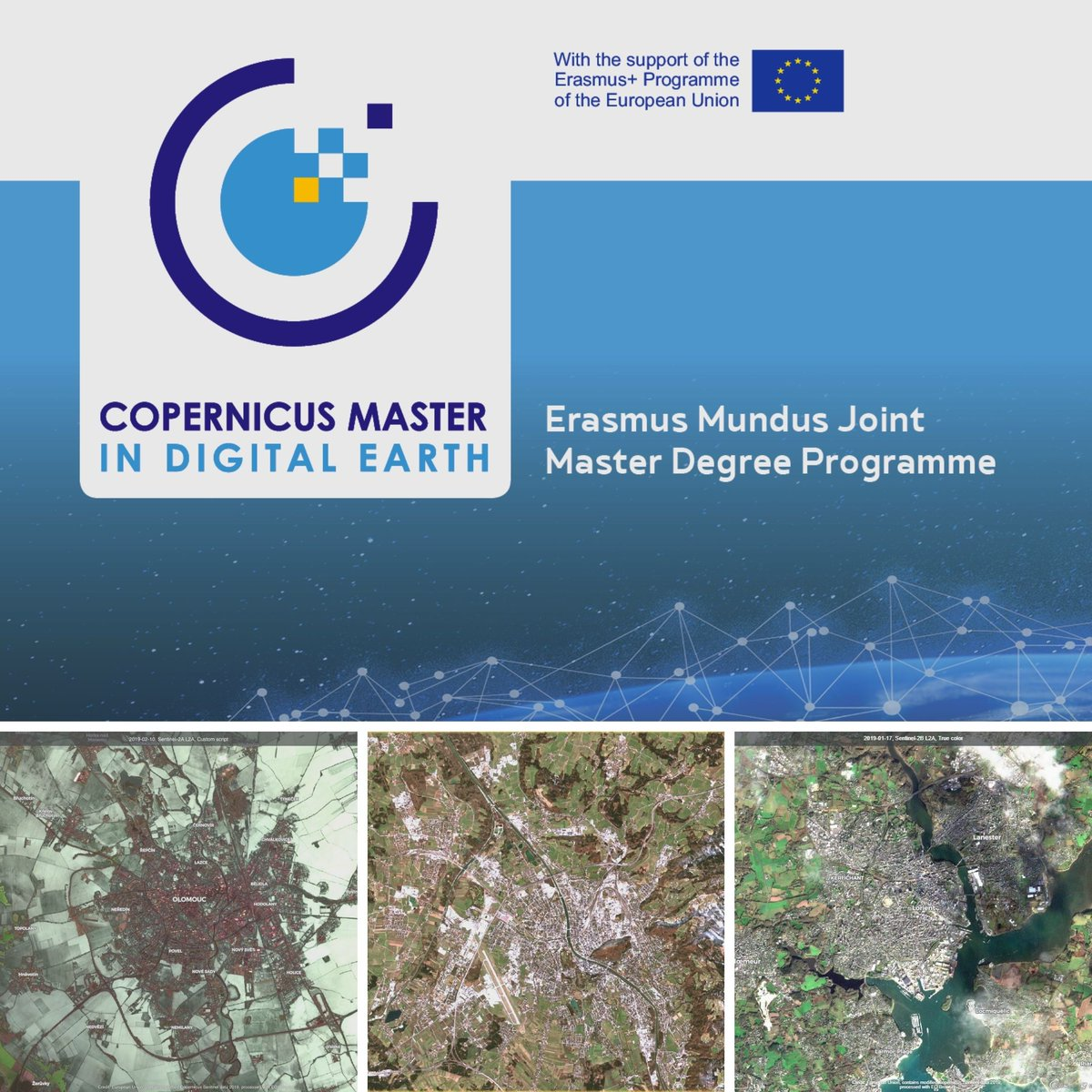 #applynow and #study #EO * #GI in Salzburg, #GeoDataScience in Vannes or #GeoVisualization in Olomouc ><  #Sentinel #Copernicus #DigitalEarth #Erasmusplus #EMJMD  #GIScientist #MSc  #Geoinformatics  #RemoteSensing #GeoINT #EarthObservation