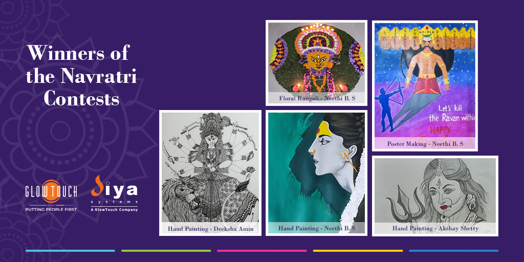 A huge round of applause to the winners of Floral Rangoli, Poster Making and Hand Painting contests held during Navratri 2020. Congratulations! #EmployeeEngagement #Navratri #Contest https://t.co/dXu2kVZ4Ha