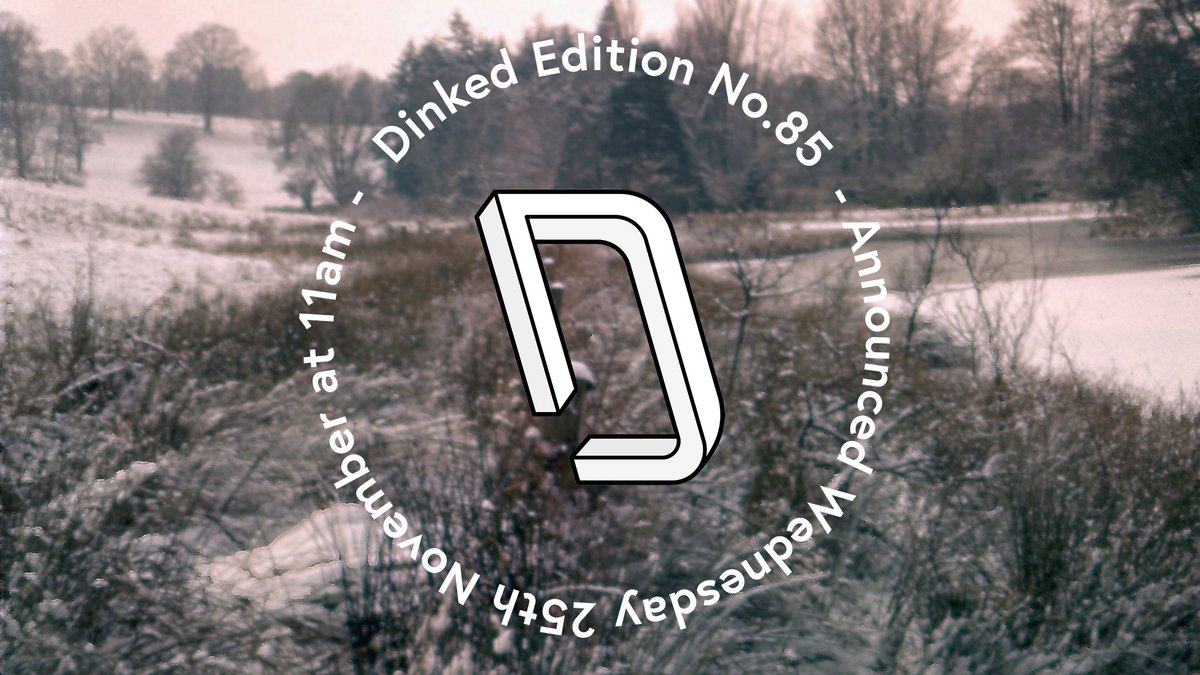 DINKED EDITION 85 ANNOUNCEMENT: Just under an hour to go until Dinked reveal their next exclusive.