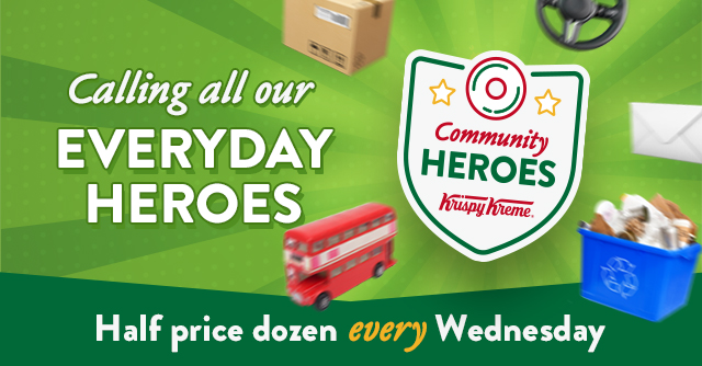 ⭐ LAST HALF PRICE DOZEN WEDNESDAY - EVERYDAY HEROES⭐  That's public transport workers, transportation infrastructure, waste/refuse collectors, postal workers, delivery drivers, couriers, utility services & telecommunications providers!   T&C: https://t.co/4CGtJqpDHh 1/2 https://t.co/YI02ra0IPg