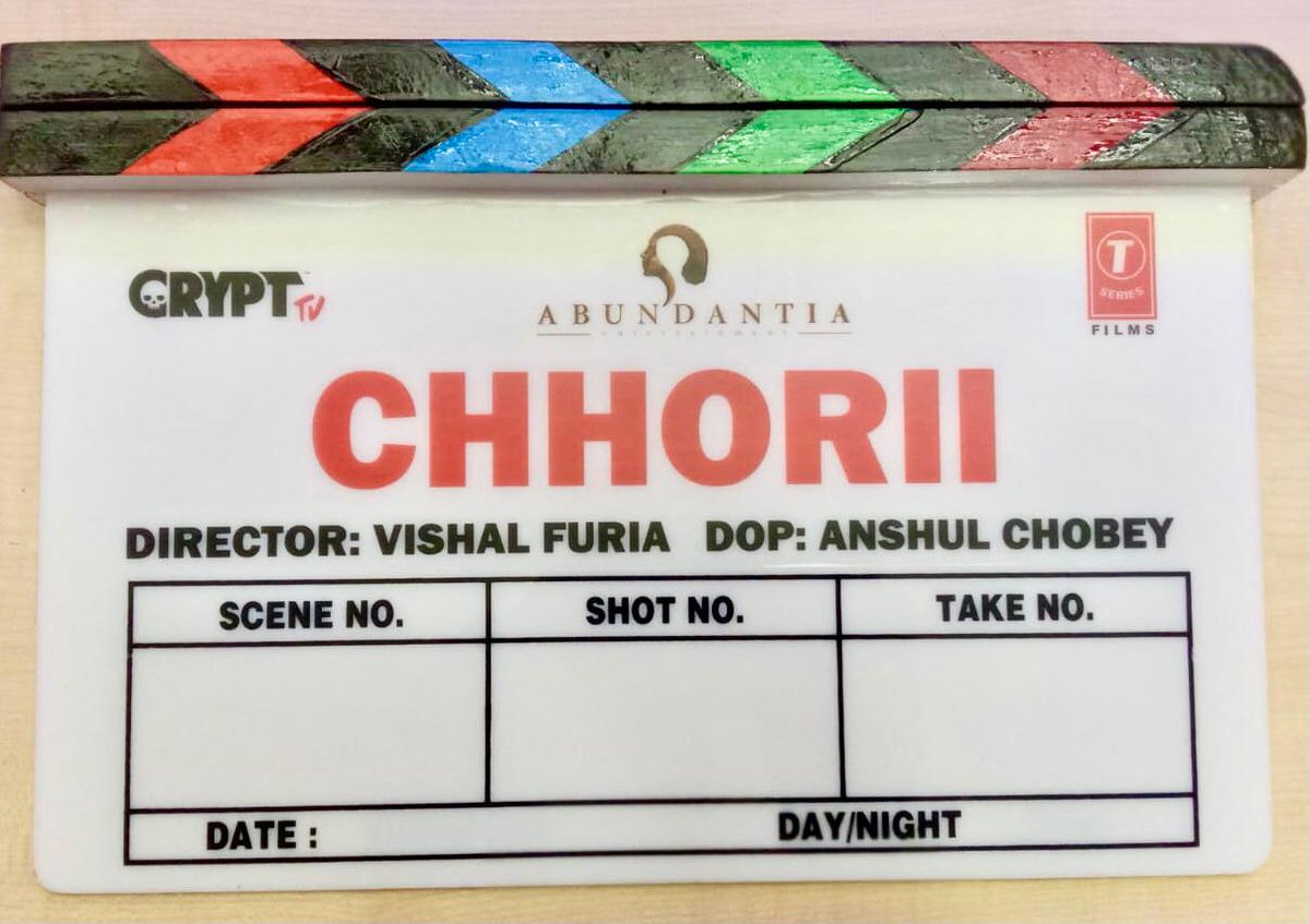 NUSHRRATT BHARUCCHA IN HORROR FILM... Horror film #Chhorii - starring #NushrrattBharuccha - commenced start-to-finish shoot in #MadhyaPradesh today... Remake of #Marathi film #Lapachhapi... Directed by Vishal Furia... Produced by Crypt TV, Abundantia and Tseries.