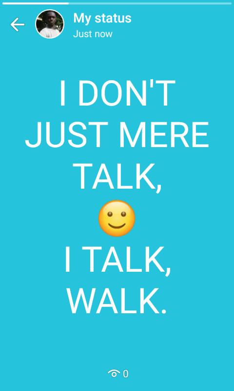 I TALK, #WALK. https://t.co/jGZ6YTfEVh