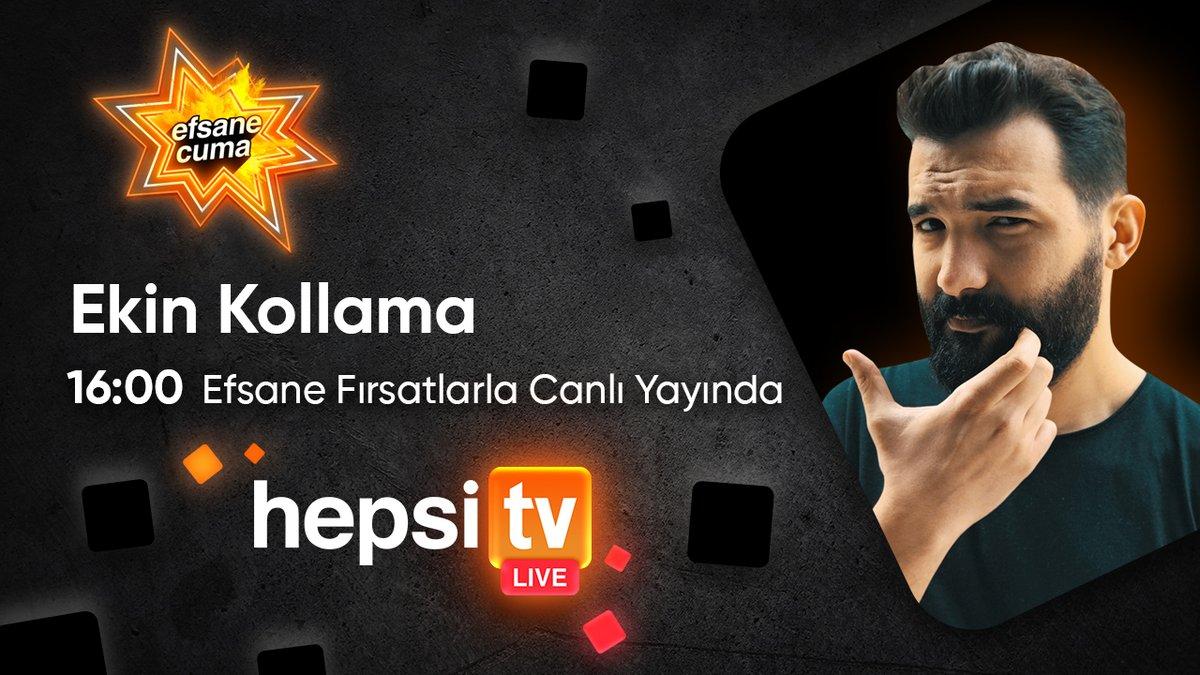 Efsane Cuma indirimlerinde HepsiTV Live'da bugün Ekin Kollama Efsane indirimli ürünleri inceliyor! 16:00'da Hepsiburada'da olun, canlı yayına özel indirimleri kaçırmayın.