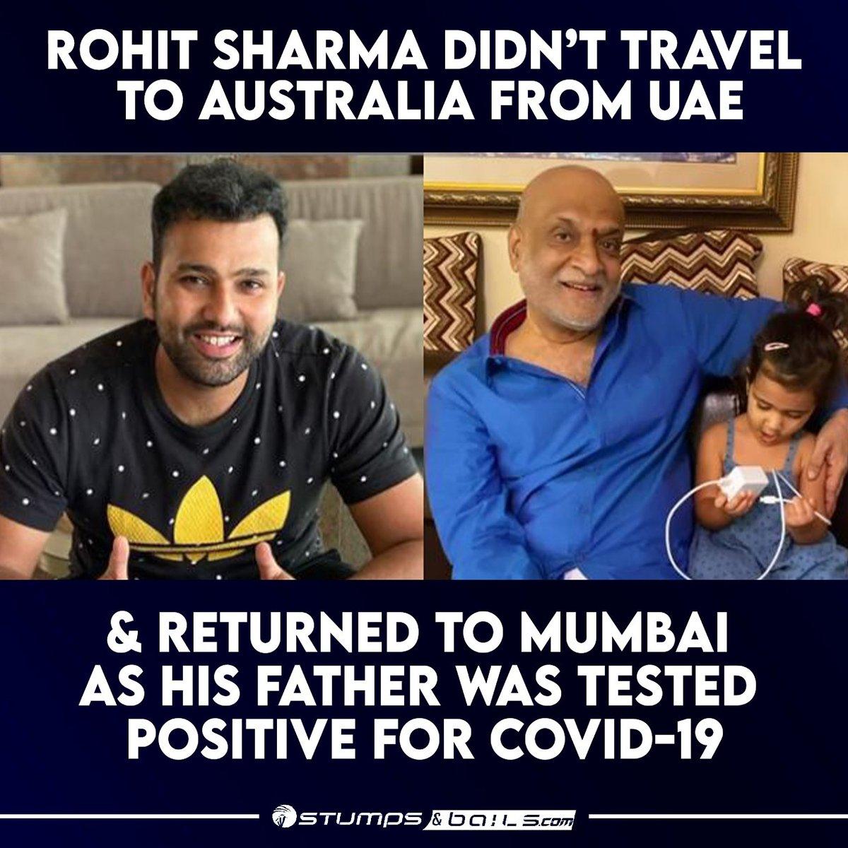 @ImRo45 travelled to #Mumbai from UAE  Follow us @stumpnbails #Covid_19 #COVID19 #RohitSharma #MumbaiIndians #MI #UAE #Australia #Indiancricketer #IndianCricketTeam #Cricket #Cricketnews #Cricketupdates