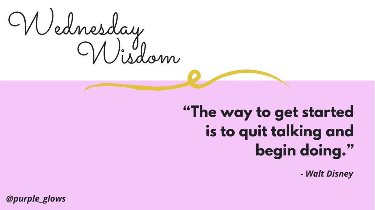 The way to get started is to quit talking and begin doing. 💯 #WednesdayWisdom #wednesdaythought