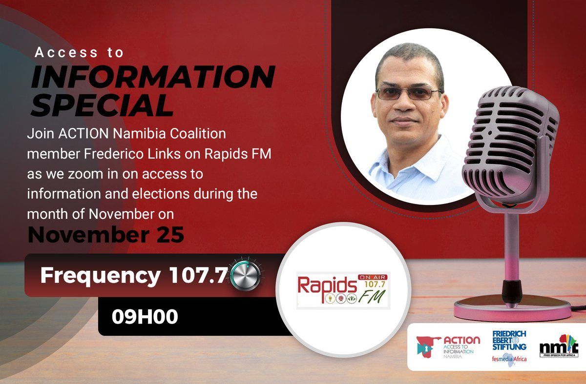 Access to information in election context is about what you know about governance performance at your local & regional level & how you assess that- @fredericolinks. Tune in on @Rapidsfm:  for the full interview. #IWillVote #RightToKnow @fesmediaAfrica