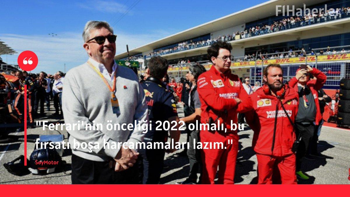 """📌 Ross Brawn'dan Scuderia Ferrari hakkında kritik açıklamalar!    🎙️ """"Ferrari'nin önceliği 2022 olmalı, bu fırsatı boşa harcamamaları lazım."""" https://t.co/Vev6MlI2ew"""