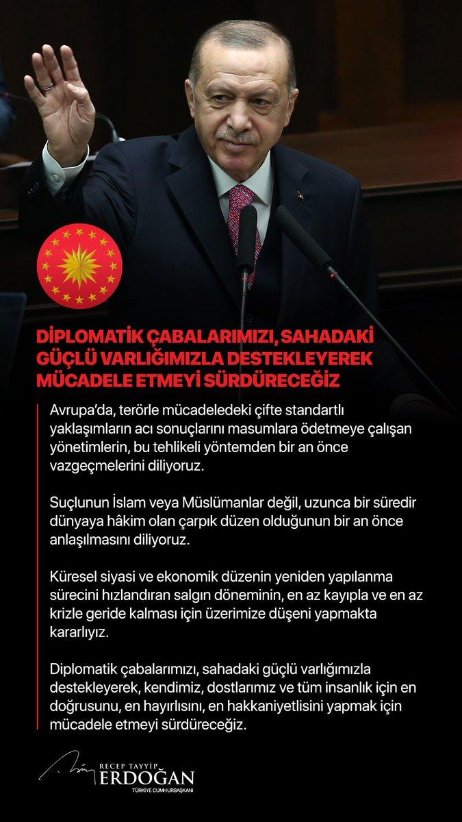 """Cumhurbaşkanı @RTErdogan: """"Diplomatik çabalarımızı, sahadaki güçlü varlığımızla destekleyerek mücadele etmeyi sürdüreceğiz."""""""