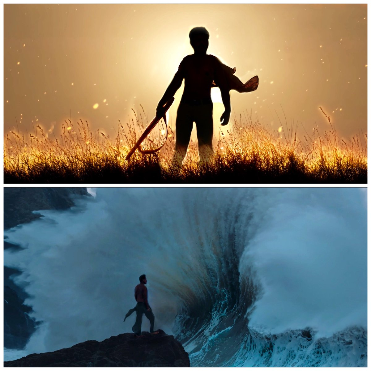 Here are two amazing shots that re-created from @RRRMovie teasers, by me and @thebaluuu  @AlwaysRamCharan @tarak9999 @ssrajamouli @mmkeeravaani #rrr #rrrmovie #BheemForRamaraju #RamarajuForBheem