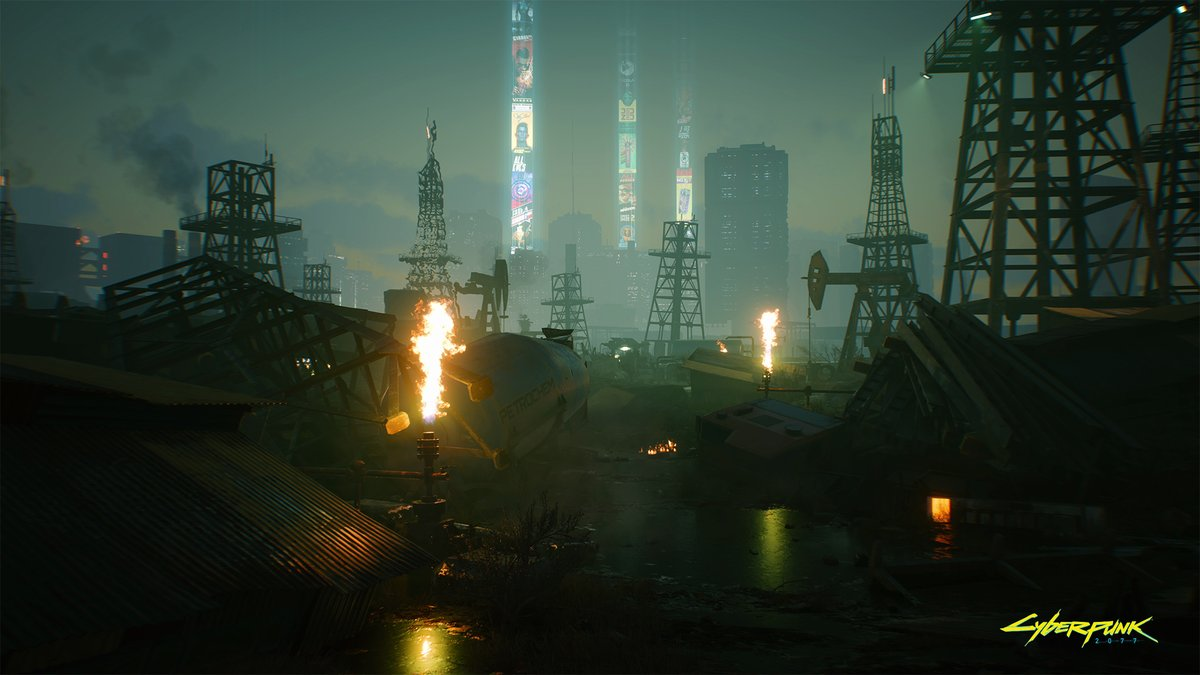 Oil fields.  #Cyberpunk2077
