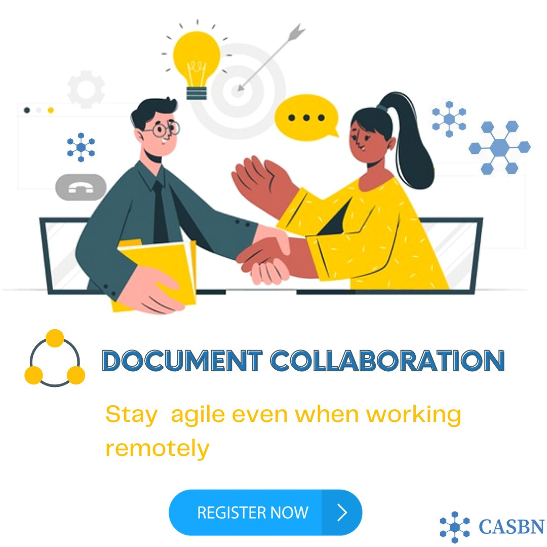 With CASBN Document Collaboration, multiple people can work on a single document and perform a collective job.  Click the link in our bio or login to CASBN & sign up to an basic plan free!!!  #California #USA #Usa2020 #teams #organization #management #teamsupport #WorkFromHome https://t.co/itQbgAtX99